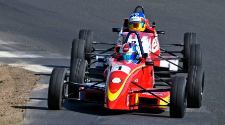 Ross Martin Leading at Knockhill